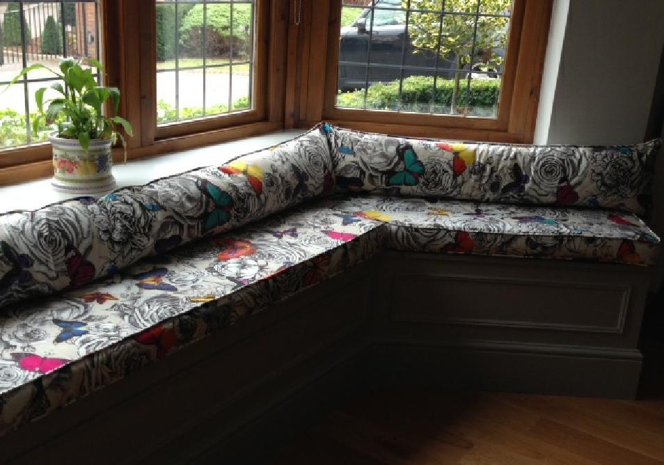 custom windowseat cushions